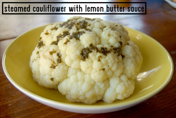 steamed cauliflower